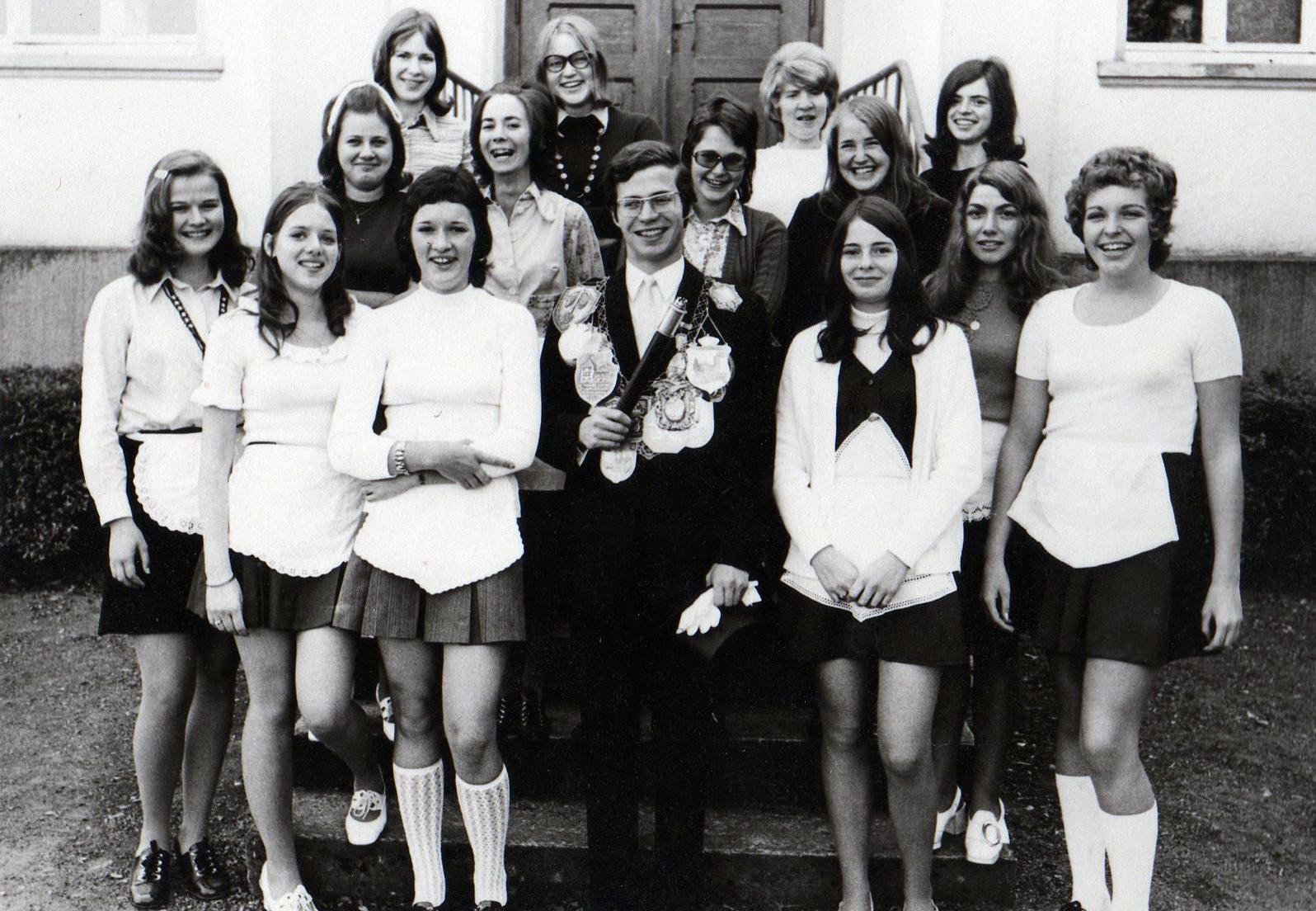 Brötchesmädchen 1971: König:Heinz Schütz Foto:Dominik Knieps