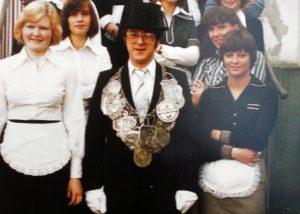 Brötchesmädchen 1976: König:Franz-Peter Efferz Foto:Doris Efferz