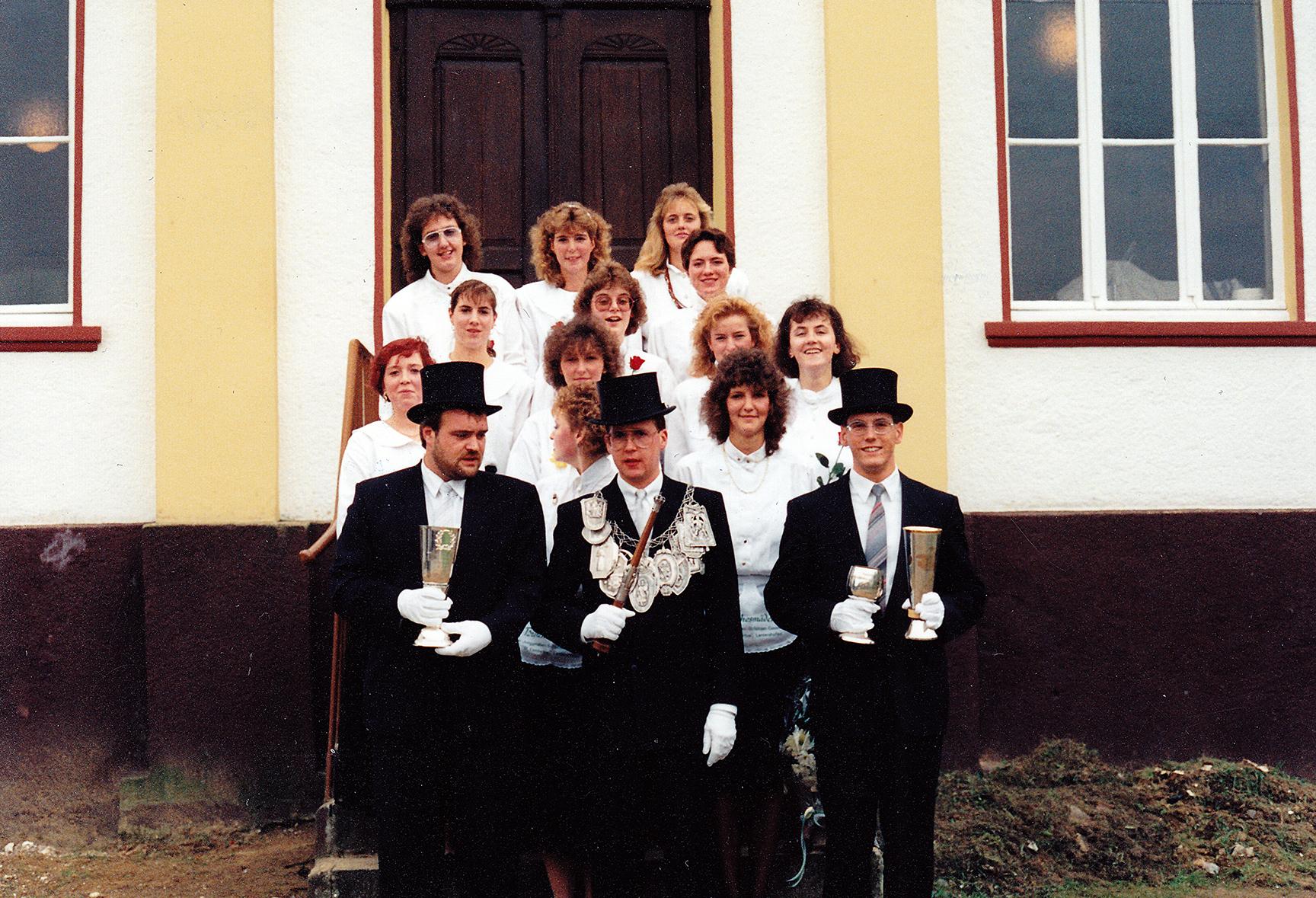 Brötchesmädchen 1990: König:Peter-Josef Schütz Foto:Peter-Josef Schütz