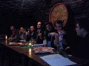 Auch beim Vorstand der Gesellschaft herrschte beste Stimmung während der Veranstaltung. Foto: JSG Lantershofen