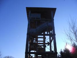 Eine erste Rast wurde am EVA-Turm gemacht. Foto: JSG Lantershofen
