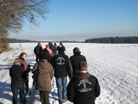 Die Winterlandschaft erstreckt sich über die Felder zwischen Holzweiler und Lantershofen. Foto: JSG Lantershofen