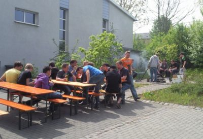 Die Spielleute bei ihrer Pause vom fleißigen Üben. Foto: JSG Lantershofen