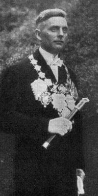 Schützenkönig Christoph Dünker. Foto: Festschrift 1935