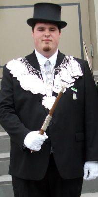 König Benedikt Fabritius. Foto: Friedhelm Sebastian