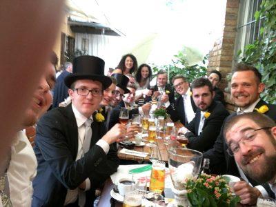 Auch das gemeinsame Abendessen beim Restaurant LaPerla hat mittlerweile Tradition. Foto: JSG Lantershofen