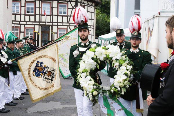 In stillem Gedenken und einer Kranzniederlegung wurde den verstorbenen Mitgliedern der Gesellschaft gedacht. Foto: Thomas Schaaf