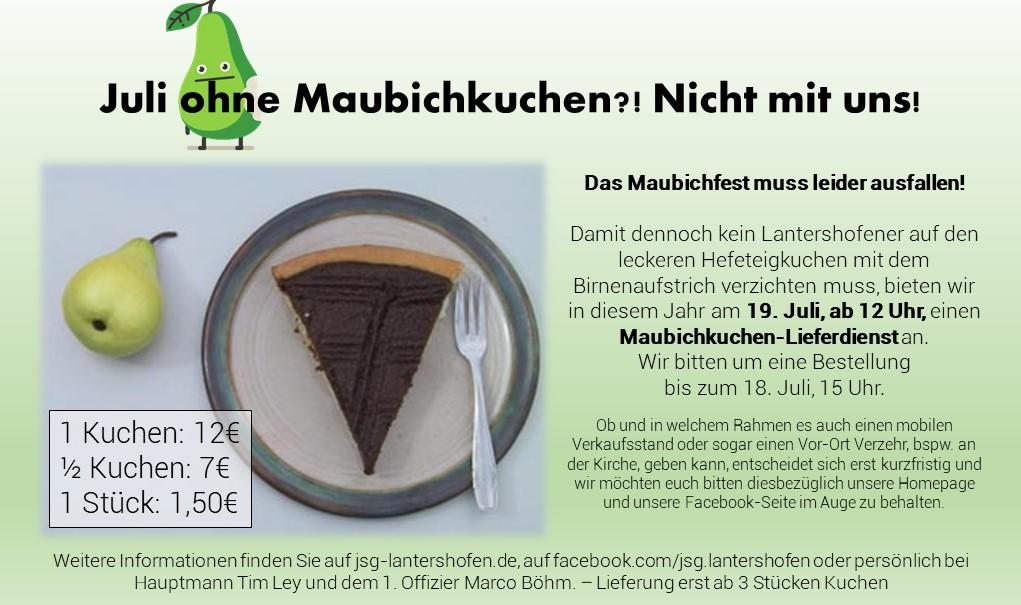 Maubichkuchen-Lieferdienst