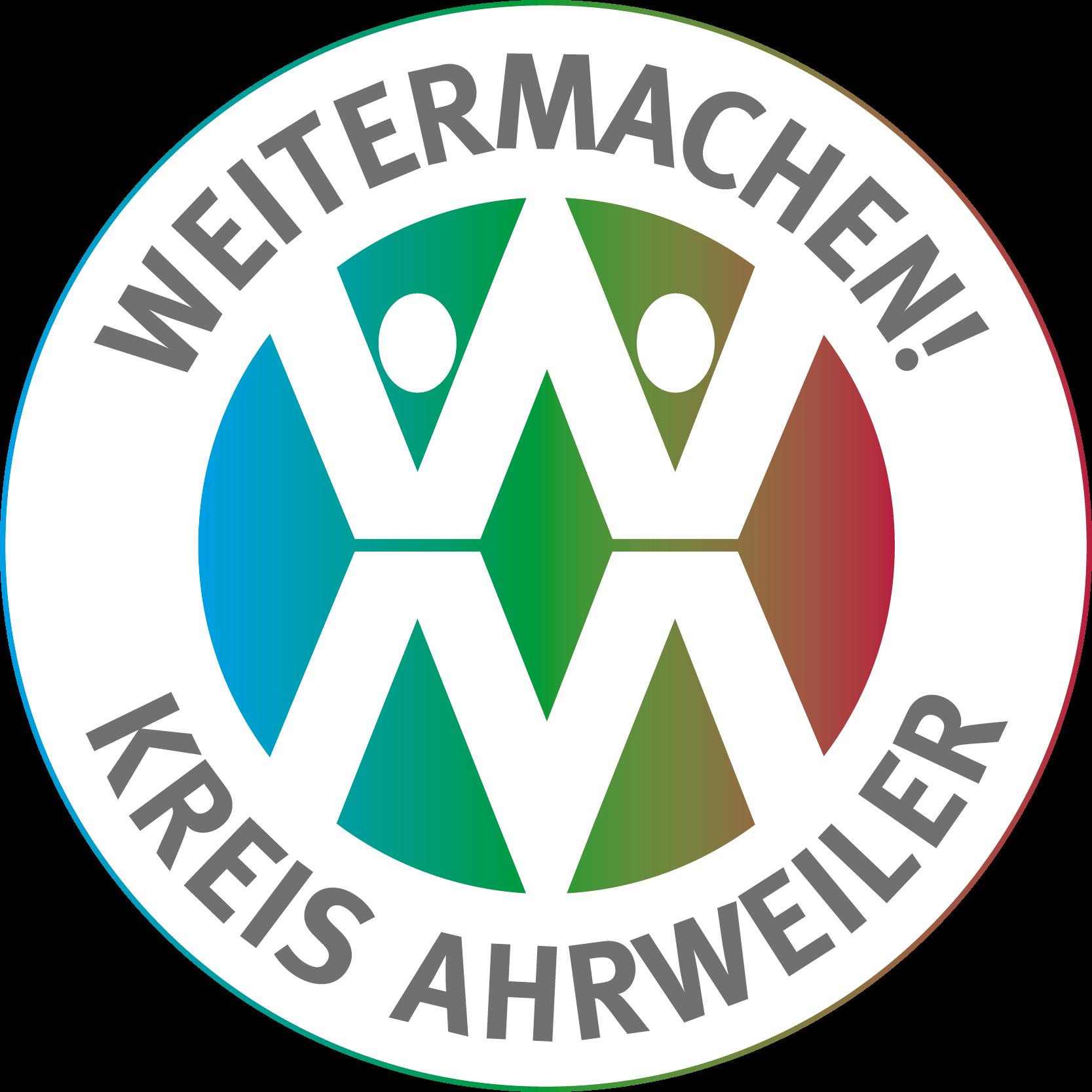 Emblem Weitermachen! Kreis Ahrweiler